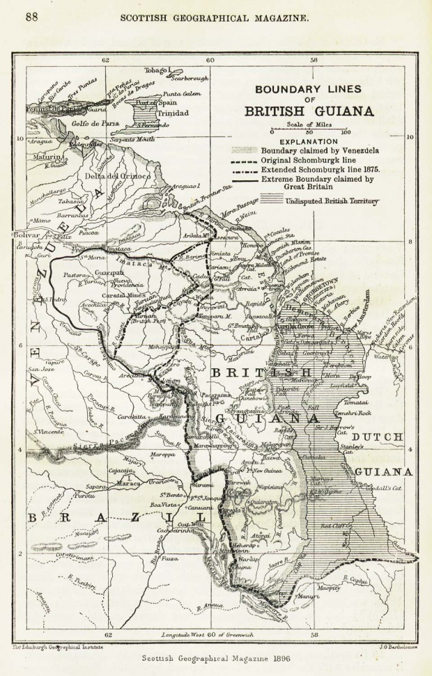 British Guiana Map 1896