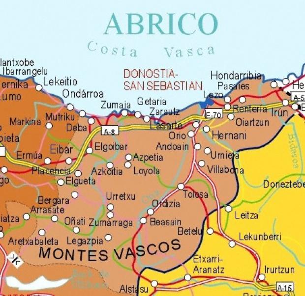 Political Map Of Guipuzcoa
