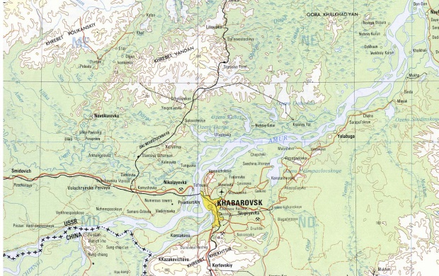 Mapa de la Región Jabárovsk