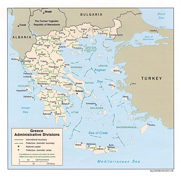 Greece Administrative Divisions Map
