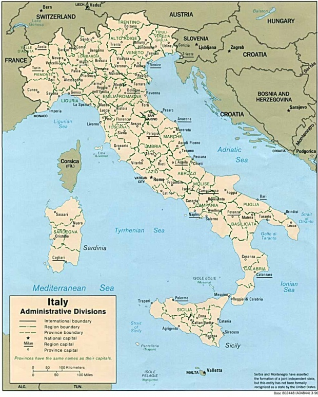 Italy Administrative Divisions Map