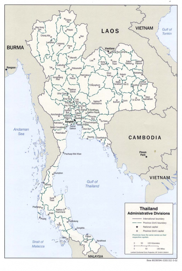 Thailand Administrative Divisions Map