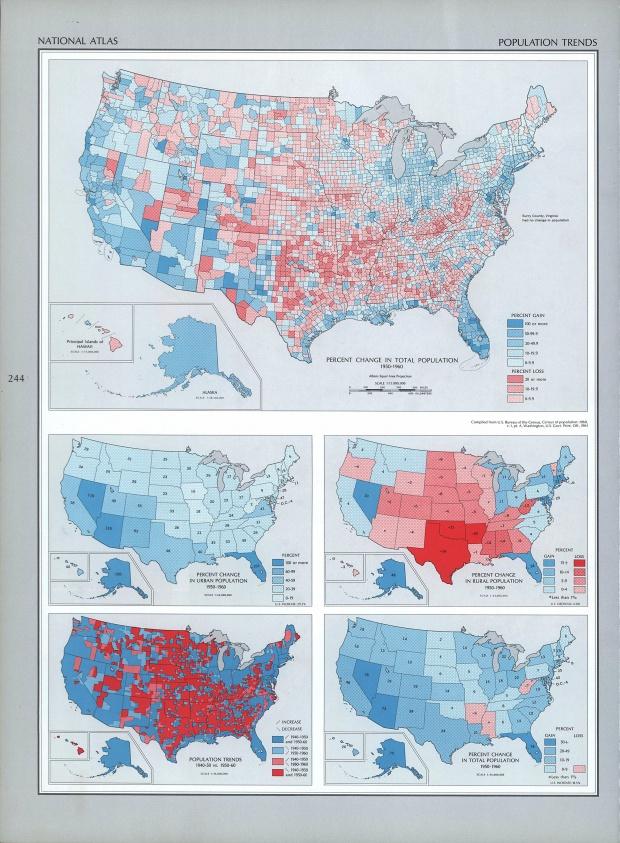 Mapa de las Tendencias de Población en Estados Unidos