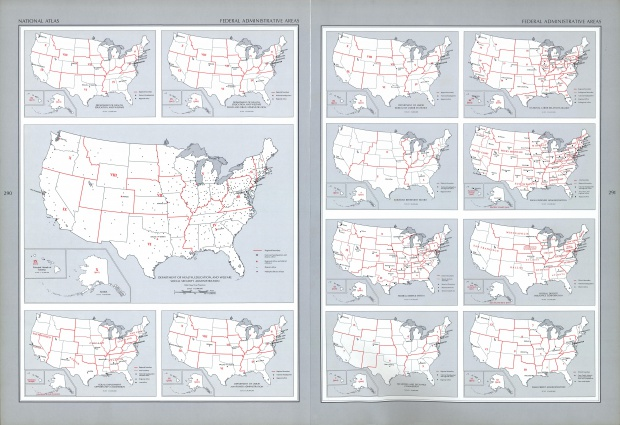 United States Federal Administrative Areas Map