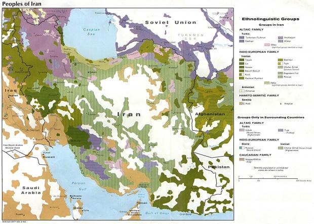 Iran Ethnolinguistic Groups Map