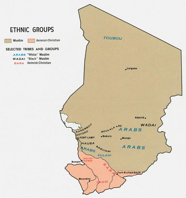 Chad Ethnic Groups Map