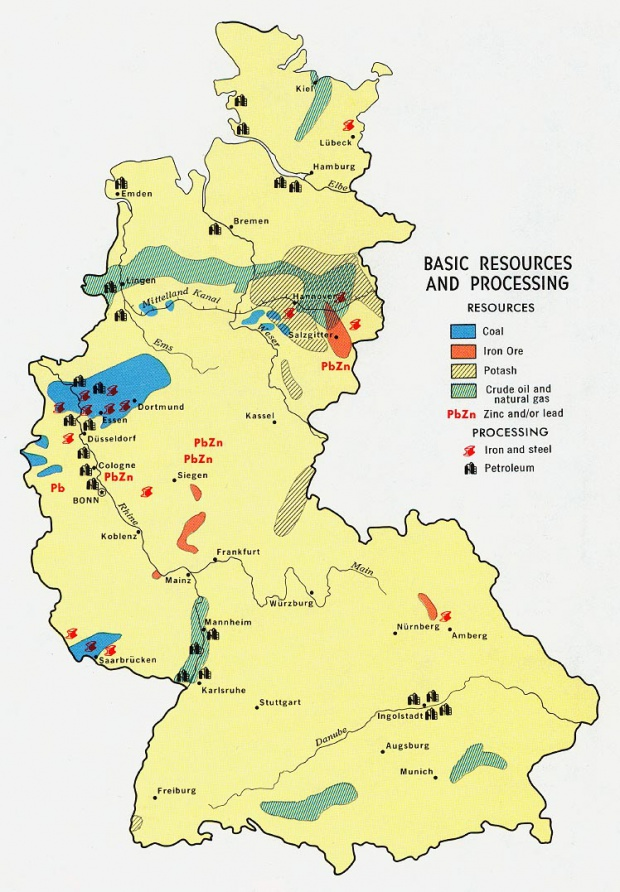 Former East Germany Industrial Production Map 1981