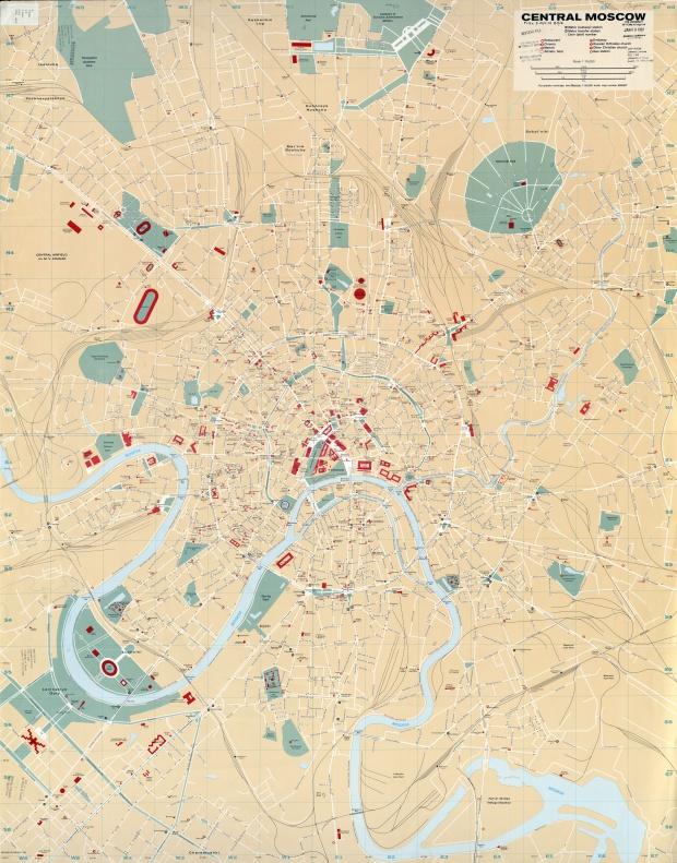 Mapa del Centro de Moscú