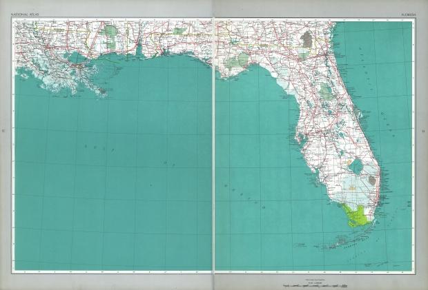 Mapa del Estado de Florida, Estados Unidos