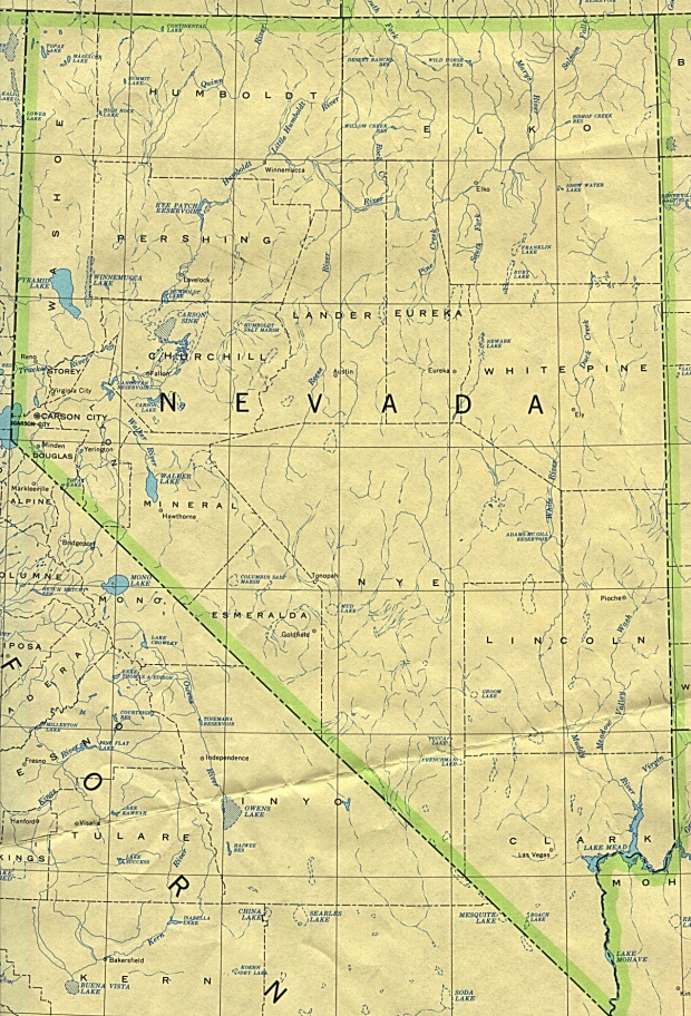Nevada State Map, United States