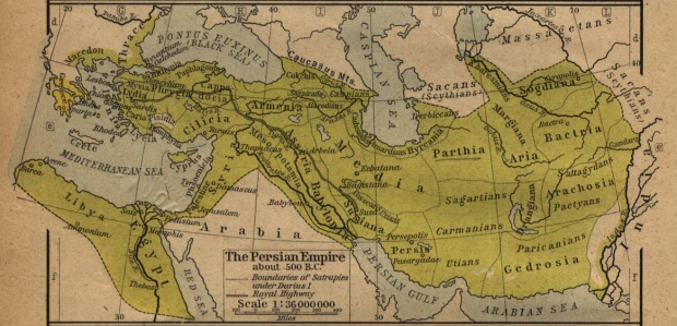 Map of the Persian Empire About 500 B.C.