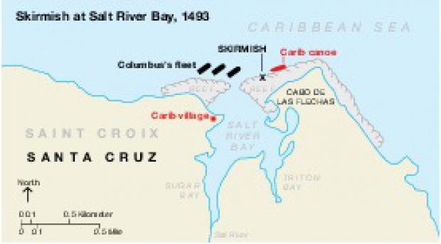 Mapa del Parque Nacional Histórico Christiansted, Islas Vírgenes, Estados Unidos