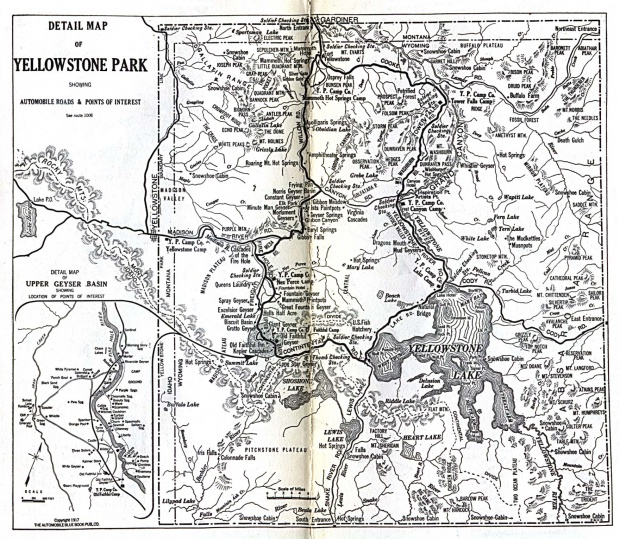 Yellowstone National Park Map 1917