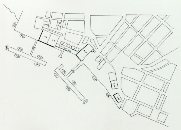Mapa del Puerto de la Ciudad de Manaus, Brasil