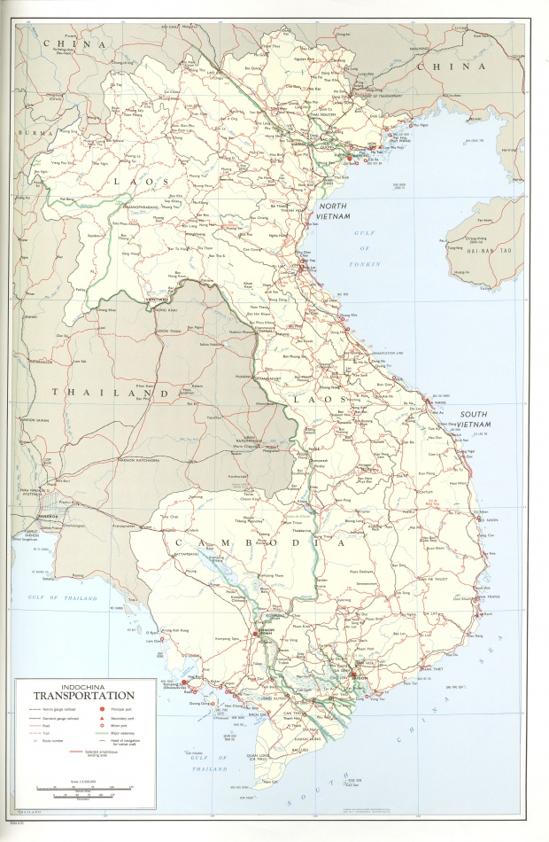 Mapa del Transporte en Indochina