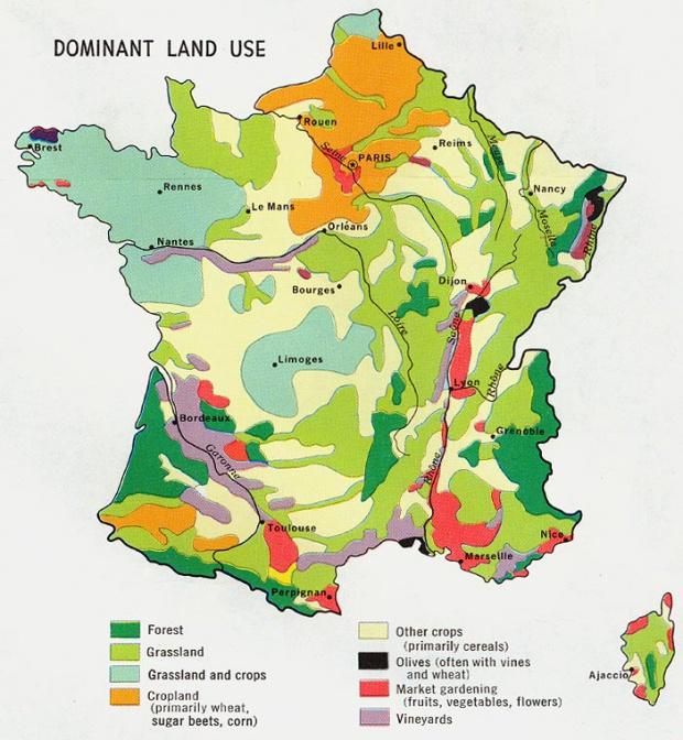 France Dominant Land Use Map