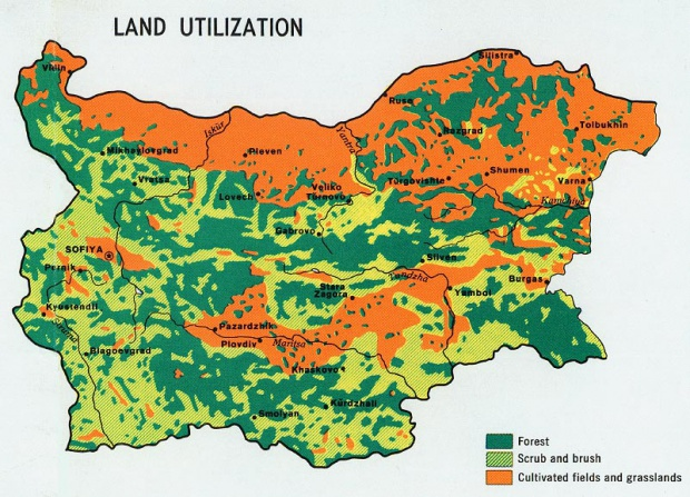 Bulgaria Land Utilization Map