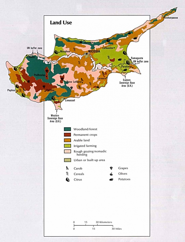 Mapa del Uso de la Tierra de Chipre