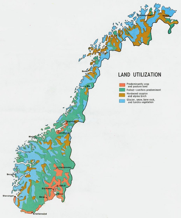 Norway Land Utilization Map