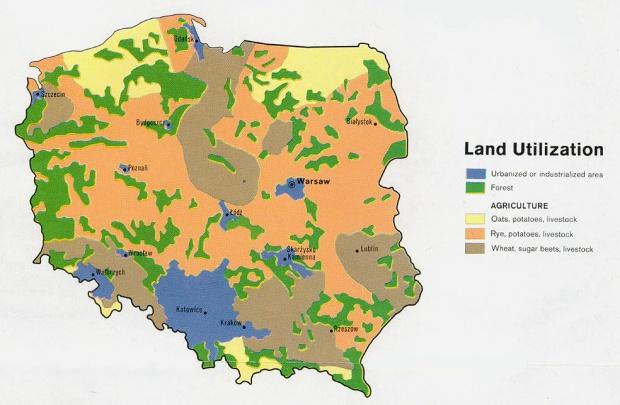 Mapa del Uso de la Tierra de Polonia