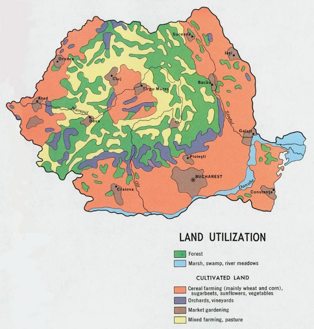 Romania Land Utilization Map