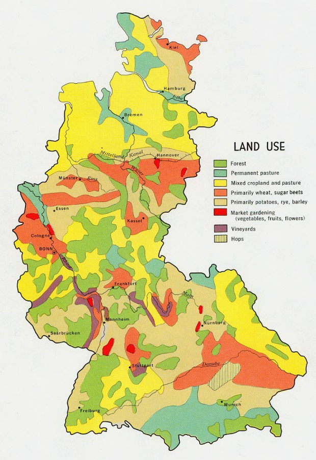 Former West Germany Land Use Map