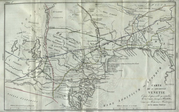 Mapa del Véneto antiguo