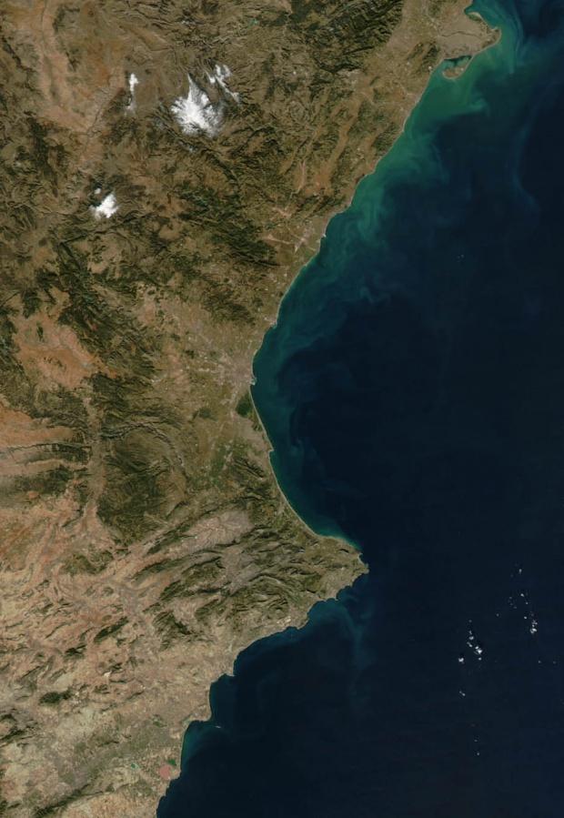 Mapa satelital de la Comunidad Valenciana