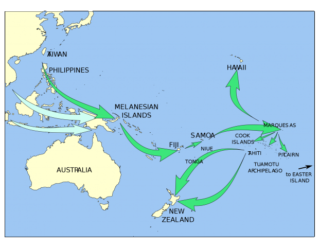 Polynesian migration in Oceania
