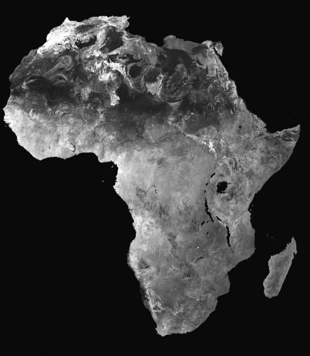 Africa satellite mosaic image