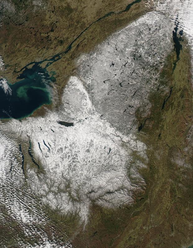 Nieve en el norte del estado de Nueva York