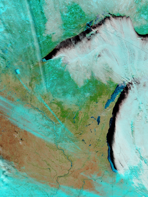 Nieve y hielo en Wisconsin
