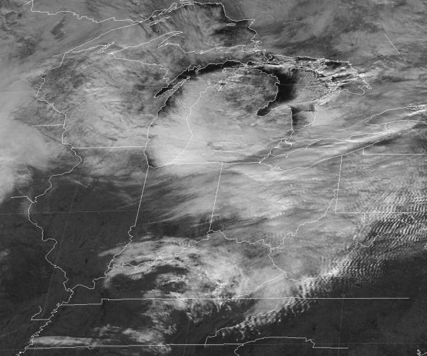 Nieves del efecto lago cubre Buffalo