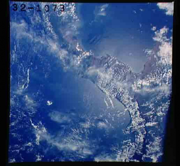Satellite Image, Photo of Panama and Northern Colombia, Panama