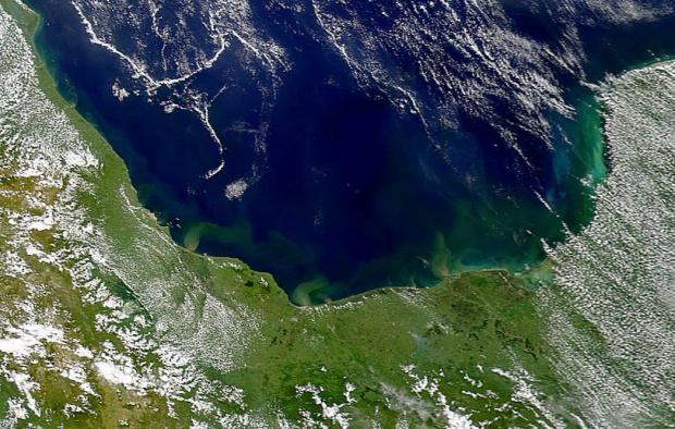 Penachos de sedimentos en el Golfo de Campeche