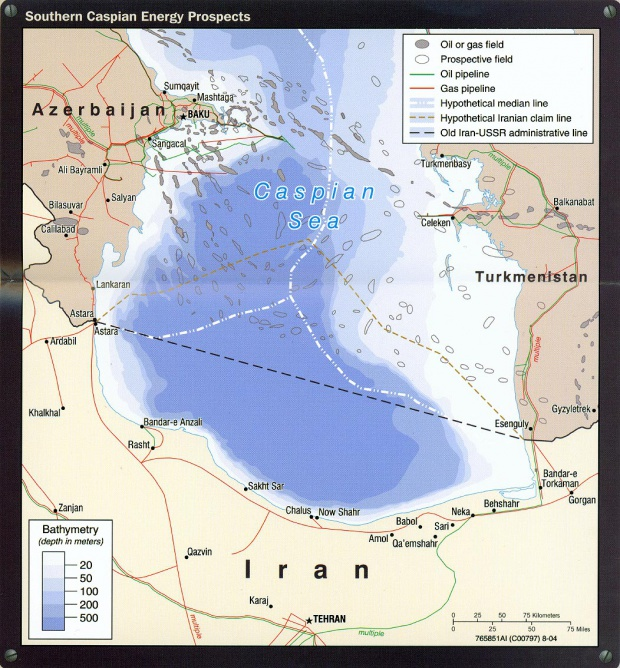 Southern Caspian Energy Prospects Map