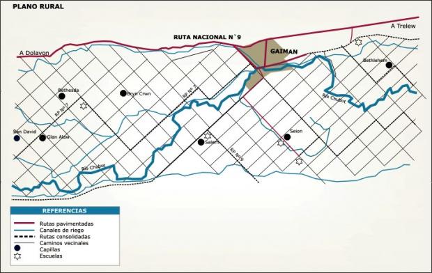 Plano Rural del Municipio de Gaiman, Prov. Chubut, Argentina