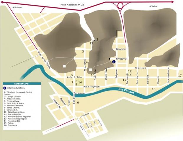 Plano Urbano de la Ciudad de Gaiman, Prov. Chubut, Argentina