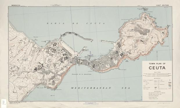 Town plan of ceuta 1943