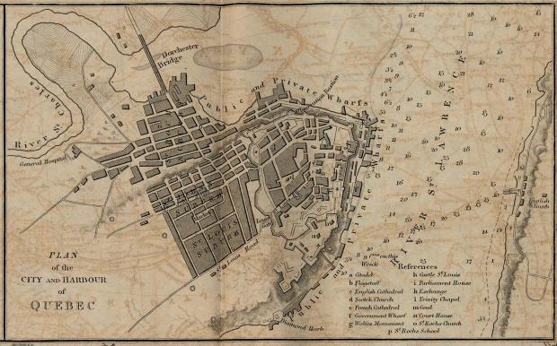 Plano del Puerto y de la Ciudad de Quebec, Canadá 1882