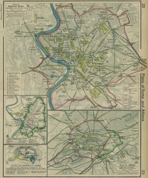 Plans of Imperial and Republican Rome