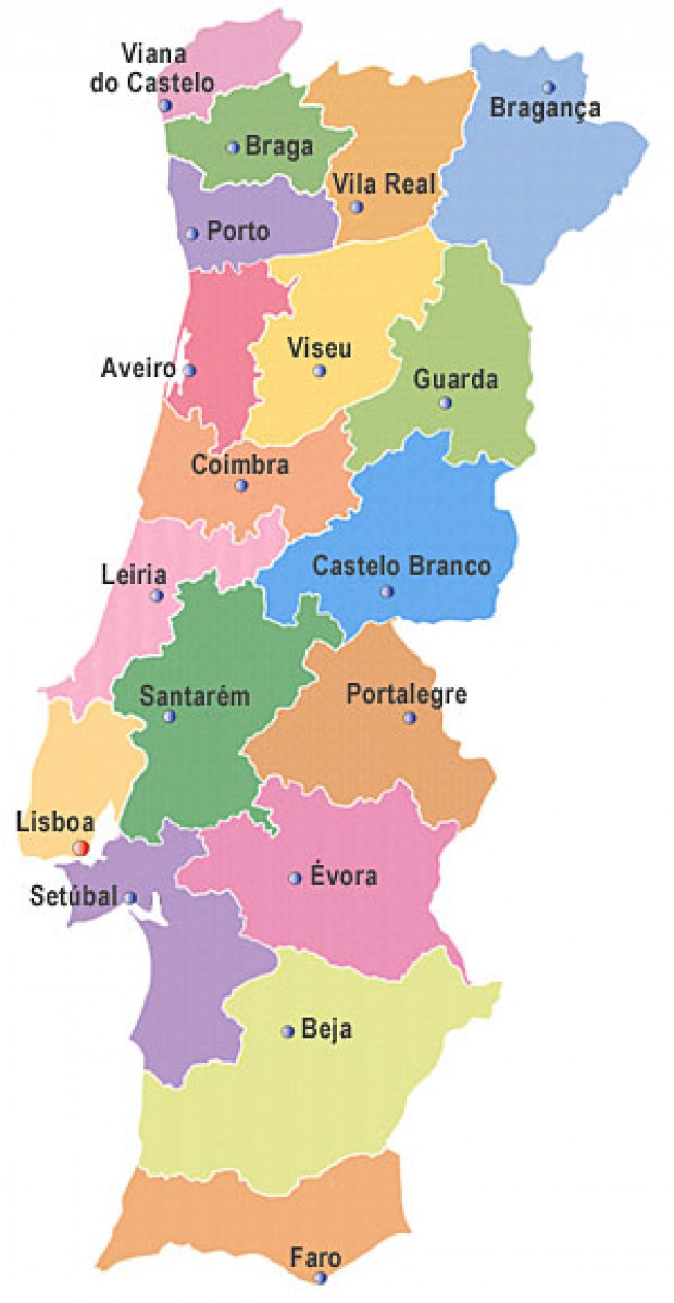 Portugal Districts Map