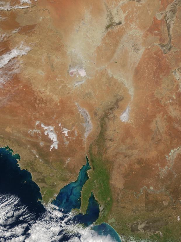 Proliferación de fitoplancton en el golfo de Spencer, sur de Australia