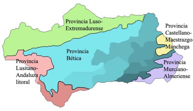 Provincias corológicas de Andalucía