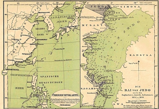 Map of Ports in China, Japan and the Philippines 1860 Part I