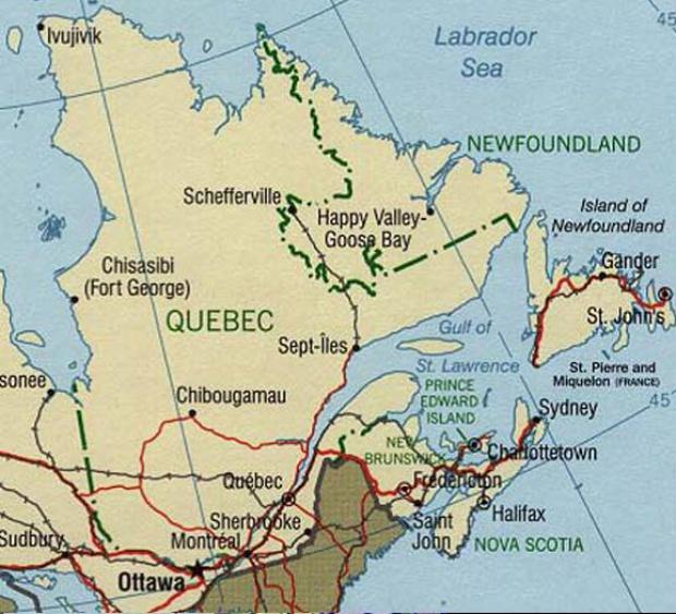 Quebec Political Map