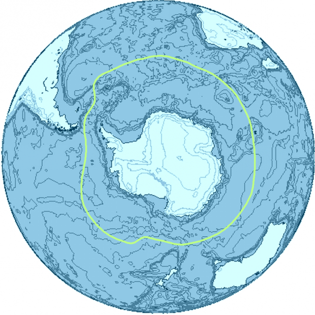 The Antarctica region and its limits 2009