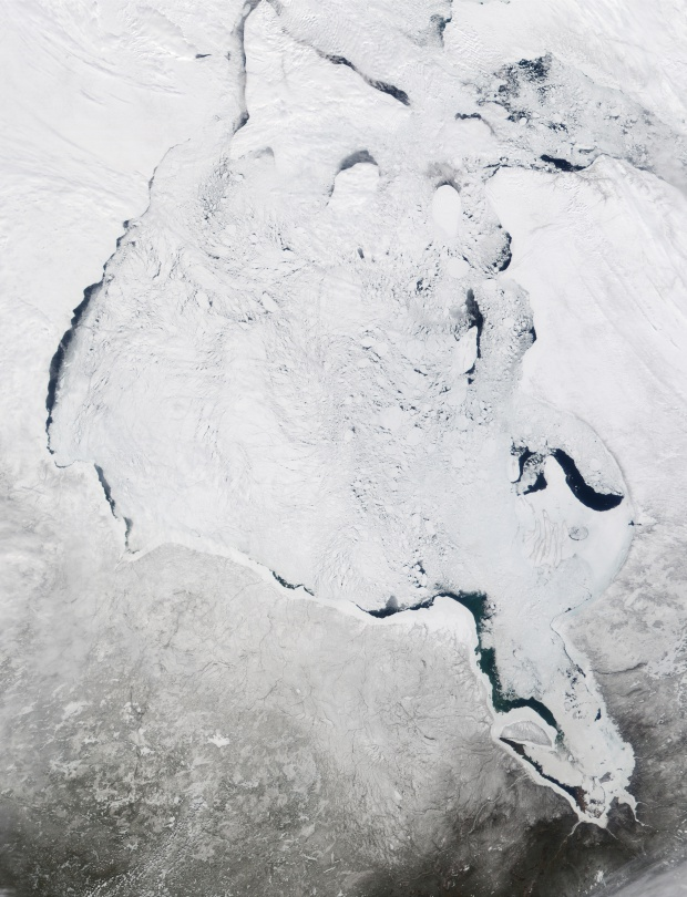Satellite Image, Photo of Hudson Bay, Canada