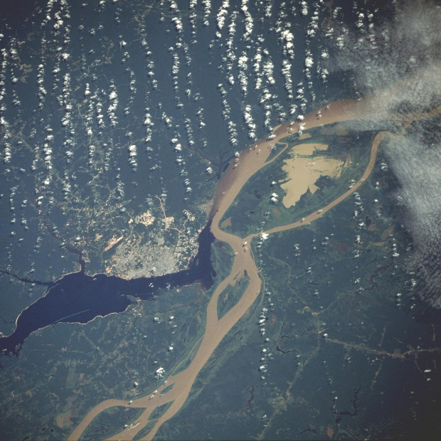 Satellite Image, Photo of Manaus, Amazonas, Brazil
