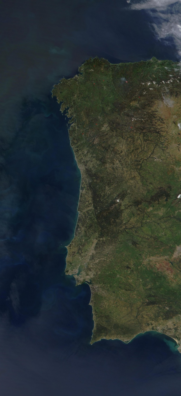 Satellite Image, Photo of Portugal
